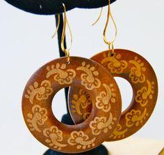 wood hoop earrings by AGopalJewelry on Etsy, $20.00
