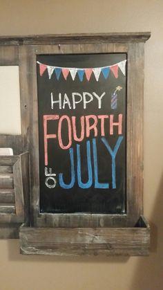 Fourth of July Chalkboard - Fourth of July Bash - Chalk Art Chalkboard Art Quotes, Blackboard Art, Chalkboard Designs, Chalkboard Ideas, Chalkboard Paint, Fourth Of July Chalkboard, Chalk Wall, Chalk Board, Chalk Paint