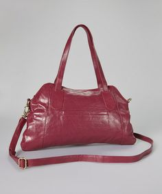 Loving this Plum Garrison Leather Crossbody on #zulily! #zulilyfinds