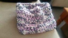 Chunky Purple/Grey/White Cowl Scarf - DenimUltra - Yarn Blend - Ready To Ship by HandmadeCraftPassion on Etsy