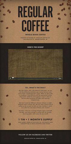 Regular Coffee Website: simplicity is always the best!