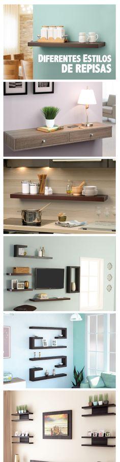 Aprovecha al máximo, utilizando el espacio disponible en tus paredes para organizar y decorar tu hogar. #Decoración #Organización