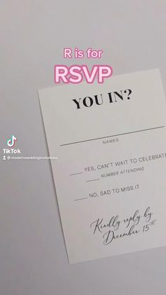 Everything you need to know about wedding invitation RSVP cards