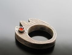 """""""Hollow Form Tulip Ring"""" by Maria Apostolou, via Flickr"""