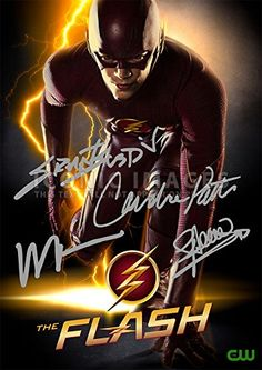 "The Flash TV Series Print - Cast Grant Gustin Wentworth Miller Candice Patton Stephen Amell (11.7"" X 8.3"") Iconic Images http://www.amazon.com/dp/B00NQ0AA60/ref=cm_sw_r_pi_dp_oVQGub01JZH4H"