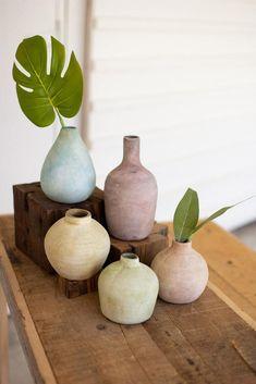 Painted Fox Home, Vase Design, Wood Vase, Vase Shapes, Home Decor Online, Diy Clay, Pottery Vase, Vases Decor, Ceramic Vase