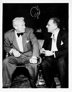 Spencer Tracy and George Cukor on the set of The Actress (1953).