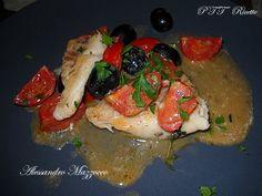 Filetto di persico con pomodori Pachino e olive