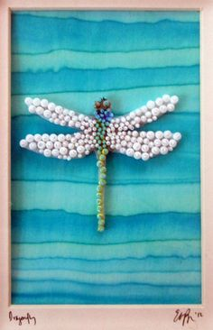 Seed Bead Embroidered Dragonfly.  Eleanorpigman.blogspot.com