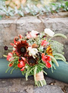 Wedding Bouquet - Fall Wedding Colors | On SMP http://www.stylemepretty.com/2013/11/25/irish-castle-inspiration-shoot-from-chris-isham-photography| Photography: Chris Isham