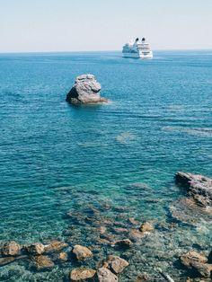 A Guide to Skopelos Europe Travel Guide, Europe Destinations, Skopelos Greece, World Of Wanderlust, Cruise Reviews, Hidden Beach, Greece Islands, Next Holiday, Set Sail