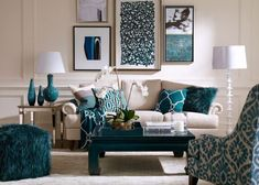 Blue living room decor best images about turquoise room decorations house ideas room living room and Living Room Turquoise, Teal Living Rooms, Living Room Colors, Living Room Grey, Formal Living Rooms, Home Living Room, Living Room Furniture, Living Room Designs, Dark Furniture