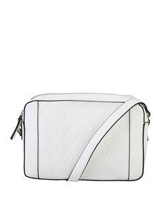 Pierre cardin - borsa tracolla in eco-pelle - chiusura con zip, tracolla - due…
