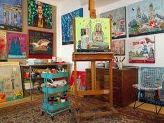 Atelier canvasa – Kathrin Thiede Städtetrips als farbfuchsteufelswilde Collagen auf Leinwand, Postkarten und Magneten www.canvasa.com