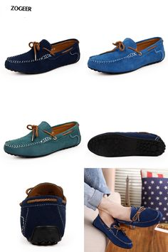 [Visit to Buy] New 2016 Men's Luxury Drivers Loafers Suede Leather Fashion Blue Sperry Shoes Designer Moccasins For Men Summer Sapato Slip On #Advertisement