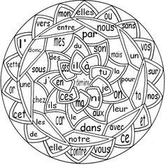 Coloriage codé : la nature des petits mots 2 French Immersion, Teaching French, Alphabet, Mandala, Writing, Education, Blog, Cycle 2, Teacher Stuff
