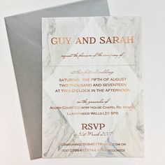 Grey Marble And Copper Wedding Invitation Are you interested in our Grey marble wedding invitation? With our grey and copper wedding invitation you need look no f. Perfect Bride, Perfect Wedding, Dream Wedding, Wedding Images, Wedding Cards, Wedding Ideas, Wedding Blog, Wedding Decor, Wedding Trends