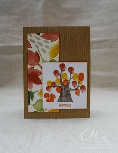 Caros Bastelbude: Stampingirls Smart Saturday: Challenge #50, Fingerprints, Der Wald ruft, Bunter Herbst, Stampin' Up!