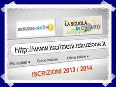 Iscrizioni online 2013 - Considerazioni e Guida