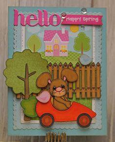 Life of a BZscrapper, Craftin Desert Divas Carrot Car Bunny Digi, Build a Scene, Fancy Frames, Doodlebug Spring Garden Paper