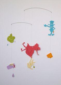 Alice's Adventures in Wonderland Mobile  for by hiramariya on Etsy, ¥3000