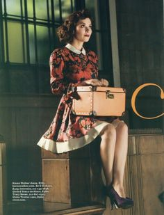 Anna Friel in a vintage dress Anna Friel, Looks Style, My Style, Pin Up, Orient Express, Vintage Glamour, Up Girl, Vintage Travel, Look Fashion