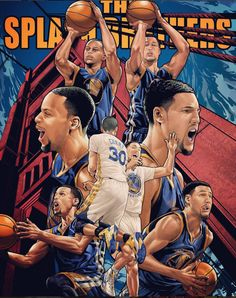 The Golden State Warriors high-powered duo of Stephen Curry and Klay Thompson captured action movie poster style. Basketball Tricks, Basketball Posters, Basketball Pictures, Basketball Games, Basketball Floor, Basketball Tattoos, Basketball Drawings, Basketball Decorations, Nba Pictures