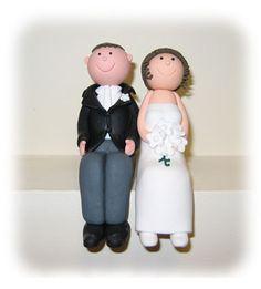 Fondant Bride and groom Cake Topper