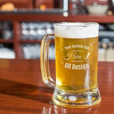 Personalized Bridal Shower Core Beer Mug for sale online Engraved Beer Glass, Glass Beer Mugs, Etched Glass, 21st Birthday Gifts, Birthday Gift For Him, Birthday Beer, Birthday Ideas, Birthday Outfits, Birthday Favors