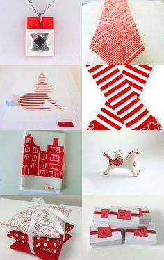 The party in white ... and red! by Créations Olfée - Annie on Etsy--Pinned with TreasuryPin.com