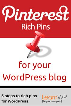 In our last Pinterest lesson we introduced you to Pinterest for business.  Now we'll walk you through applying for Rich Pins.  LearnWP.ca
