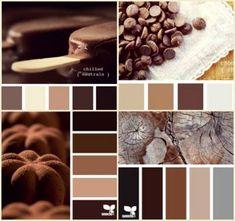 Color Schemes Colour Palettes, Brown Color Schemes, Best Bedroom Colors, Outside Paint, Brown Paint, Color Balance, Colour Board, Kitchen Colors, Color Pallets