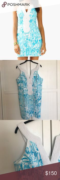 "NWT Lilly Pulitzer Valli Shift Dress ""Valli Shift"" dress - resort white - size 14 - nautical shirt dress perfect for a summer wedding for party - never been worn - new with tags - perfect condition - machine wash cold Lilly Pulitzer Dresses"
