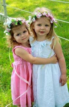 girls and flower headbands