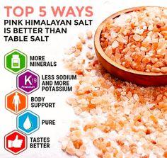 Top 5 ways Pink Himalayan Salt is better than table salt. Himalayan Salt Crystals, Himalayan Pink Salt, Pink Salt Benefits, Natural News, Natural Health, Organic Brand, Table Salt, Snack Recipes, Snacks