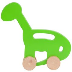classic wooden push toy in a fun dino shape $32