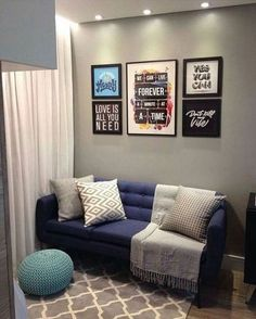 decorated apartment room rnrnSource by Living Room Grey, Home Living Room, Apartment Living, Living Room Decor, Living Room Modern, Living Room Designs, Bedroom Modern, Deco Studio, Dining