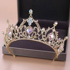 - Wedding Tiara, Baroque Luxury Rhinestone Bridal Crown Tiaras Gold Crystal Diadem for Bride Headband - Cute Jewelry, Hair Jewelry, Bridal Jewelry, Bridal Crown, Bridal Tiara, Wedding Veils, Bridal Headpieces, Crown Aesthetic, Bride Headband