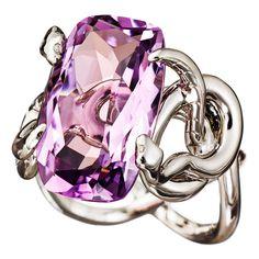 Sarpa pink amethyst ring