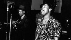 A photographer captured Billie Holiday singing Strange Fruit as she recorded the song in 1939