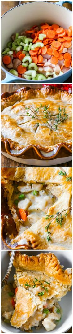 Double Crust Chicken Pot Pie Recipe from sallysbakingaddiction.com. This is my favorite recipe for pot pie. Creamy, comforting, easy dinner!