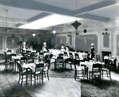 The interior of Bettys Cafe, 42-44 Darley Street, Bradford. Taken in the 1920s.