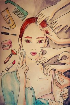 Dermatillomania-yup this is what it looks and feels like. Every night I'm at my face.