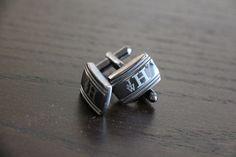 Monogram Cufflinks, Custom Engraved Stainless Steel Cuff links, Personalized Wedding Cufflinks, Fathers Day Gift, Monogrammed Cuff Links  $17.99