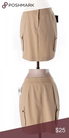 "🆕 INC International Concepts Tan Pocket Skirt ☀️ Brand new with tags! 17"" length pencil silhouette 60% polyester 34% rayon 6% spandex size 4 INC International Concepts Skirts Pencil"