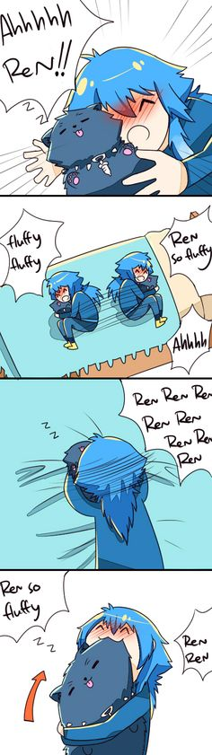 I dont know about anyone else, but I would do this, cause Ren's so fluffy and adorableXD
