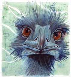 lol I would love to have this painting!  http://jenniferely.com/artwork/1953330_Emu.html