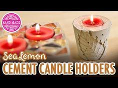 DIY Fall Cement Candle Holders with Sea Lemon - HGTV Handmade - YouTube
