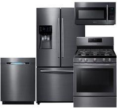Samsung Appliance RF263BEAESG4PCKIT2 Black Stainless Steel Series ...