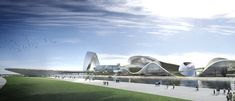 Designed by Coop Himmelb(l)au. Coop Himmelb(l)au has come up with an incredibly unique design for the new Grand Theatre and International Culture & Art Center. Arch Architecture, Architecture Magazines, Futuristic Architecture, Amazing Architecture, Architecture Models, Eco City, Deconstructivism, Zaha Hadid Architects, Chinese Garden